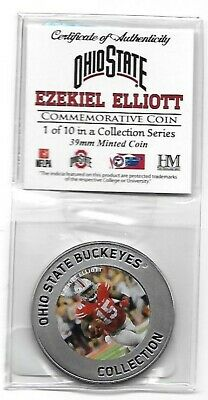 HIGHLAND MINT OHIO STATE LEGENDS #1 EZEKIEL ELLIOTT 39MM COMMEMORATIVE COIN