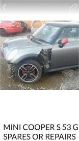 Mini Cooper s 53 grey spares breaking EC