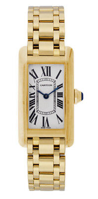 Ladies 18K Yellow Gold Cartier Tank Americaine Watch $21,700 Sale Price 50% OFF