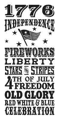 Primitive 4th of July STENCIL**Independence-Fireworks**Subway for Signs 12