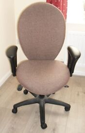 Office chair Brown material
