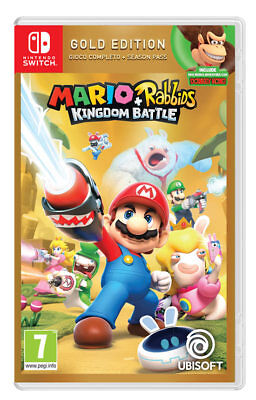 MARIO + RABBIDS KINGDOM BATTLE GOLD EDITION NINTENDO SWITCH JOGO DE VÍDEO ITALIANO