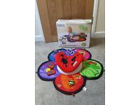 Lamaze Spin and Explore Garden Gym Playmat Baby Tummy Time Play Mat