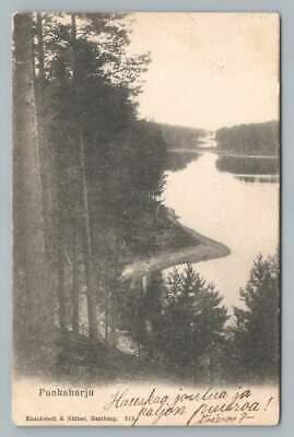 Punkaharju Finland~Rare Antique Finnish Savonlinna Postcard Stamp 1904