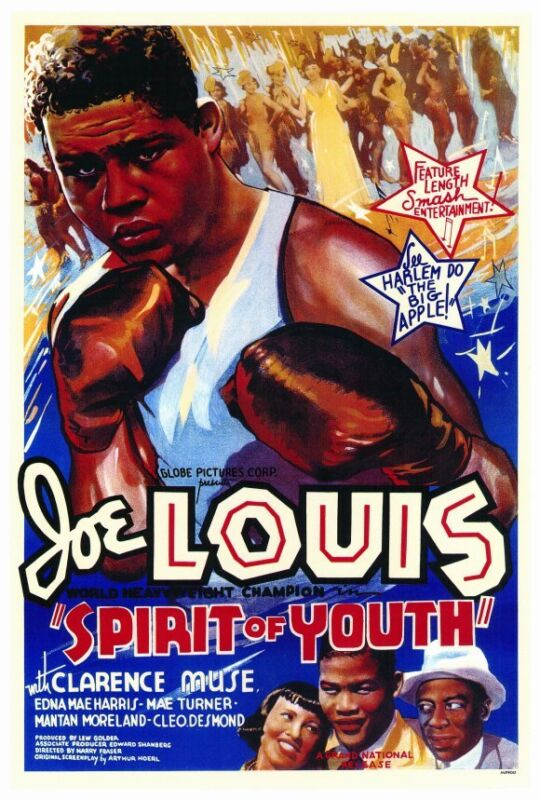 SPIRIT OF YOUTH Movie POSTER 27x40 Joe Louis Clarence Muse Edna Mae Harris Mae