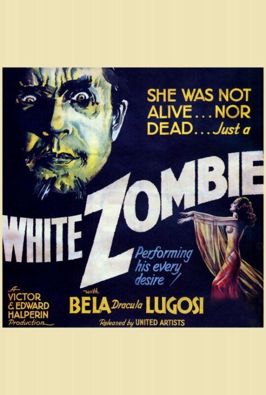 WHITE ZOMBIE Movie POSTER 30x30 Bela Lugosi Madge Bellamy Joseph Cawthorn Robert