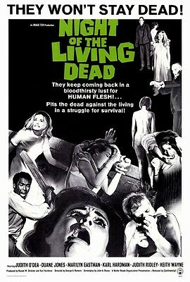 """Night Of The Living Dead (1968) Movie Poster [Licensed-New-USA] 27x40"""""""