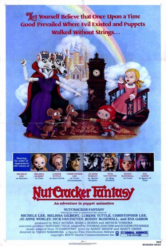 THE NUTCRACKER FANTASY Movie POSTER 27x40 Christopher Lee Jack Angel Eva Gabor