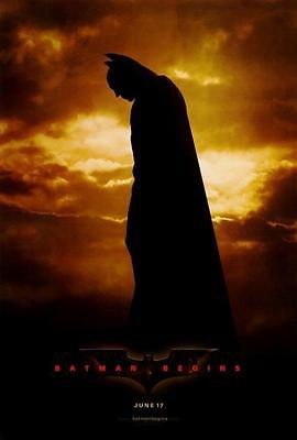 Batman Begins New Movie Poster - Batman Begins Movie POSTER 27 x 40 Christian Bale, Michael Caine, A LICENSED NEW