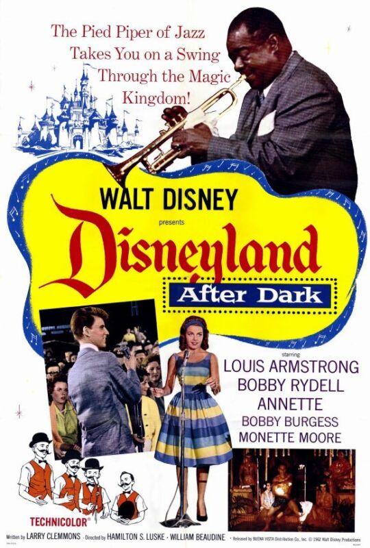 DISNEYLAND AFTER DARK Movie POSTER 27x40 Walt Disney Louis Armstrong Bobby
