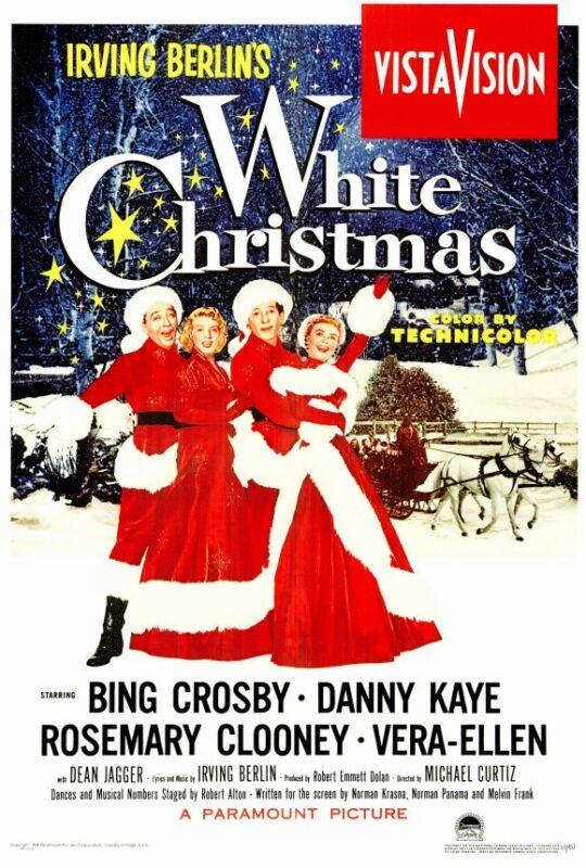 WHITE CHRISTMAS Movie POSTER PRINT 27x40 Bing Crosby Danny Kaye Rosemary Clooney