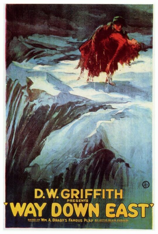 WAY DOWN EAST Movie POSTER 27x40 Lillian Gish Richard Barthelmess Lowell Sherman