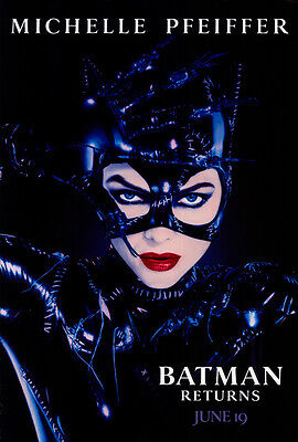"""BATMAN RETURNS Movie Poster [Licensed-NEW-USA] 27x40"""" Theater Size Catwoman 1992"""