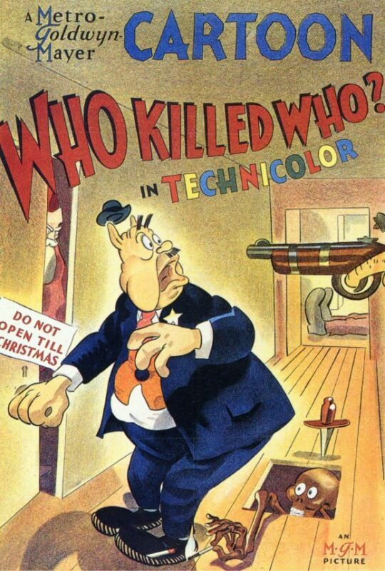 WHO KILLED WHO? Movie POSTER 27x40 Tex Avery Billy Bletcher Richard Haydn Robert