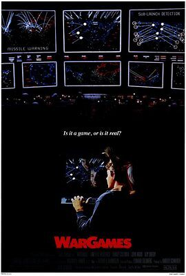"WARGAMES Movie Poster [Licensed-NEW-USA] 27x40"" Theater Size (Broderick) 1983"