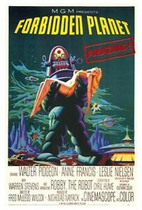 Forbidden Planet Movie POSTER 27 x 40 Walter Pidgeon Anne Francis A LICENSED NEW