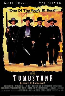 """""""TOMBSTONE"""" Movie Poster [Licensed-New-USA] 27x40"""" Theater Size (Kurt Russell)"""