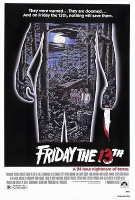 Friday the 13th Movie Poster 24x36