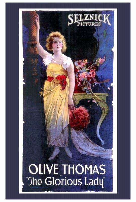 THE GLORIOUS LADY Movie POSTER 27x40 Olive Thomas Matt Moore Evelyn Brent Robert