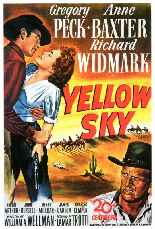 YELLOW SKY Movie POSTER 27x40 Gregory Peck Anne Baxter Richard Widmark Robert