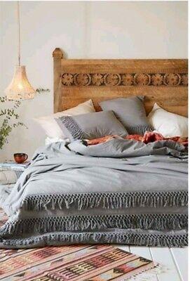 Urban Solid Bedding - Urban Outfitters Green Fringe Net Tassle Duvet Cover Full/Queen New
