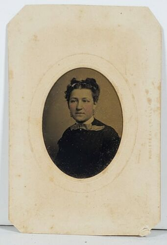 Tintype Photo Woman Wood Hillyard Lamar Winchester Baltimore Hagerstown WD17