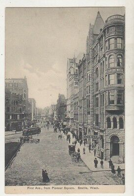 1910's Postcard * First Ave, From Pioneer Square, Seattle, Wash