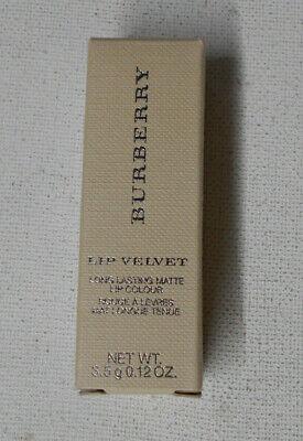 BURBERRY LIP VELVET LONG LASTING MATTE LIP COLOUR POMEGRANATE PINK No.413 un nib