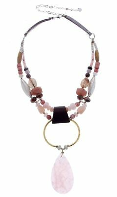 New Double Strand - NAKAMOL DESIGN NEW ROSE QUARTZ DOUBLE STRAND STATEMENT NECKLACE SOLD OUT NWT $89