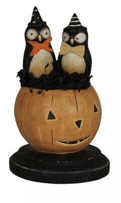 Bethany Lowe Michelle Lauritsen Halloween What A Hoot Owls In A Pumpkin—retired