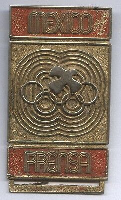 Orig.Teilnehmer Pin   Olympische Spiele MEXICO 1968 - PRESSE  !!  EXTREM SELTEN