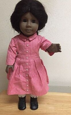 """18""""Pleasant Company American Girl ADDY doll Retired w/ meet outfit - black hair"""