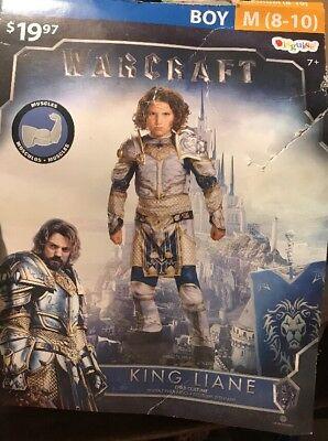 KING LIANE WARCRAFT Halloween Costume BOY SIZE Medium - Warcraft Halloween