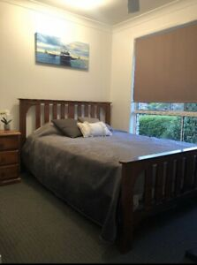Queen Solid Timber Bed frame and Mattress
