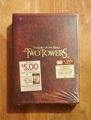 The Lord Of The Rings  The Two Towers Special Extended Edition Brand New Dvd Set
