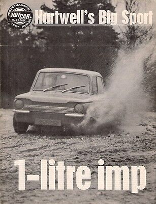 Hartwell Hillman Imp GT Road Test 1970 UK Market Foldout Brochure Hot Car