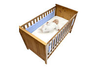 Safe dreams cot wrap - blue