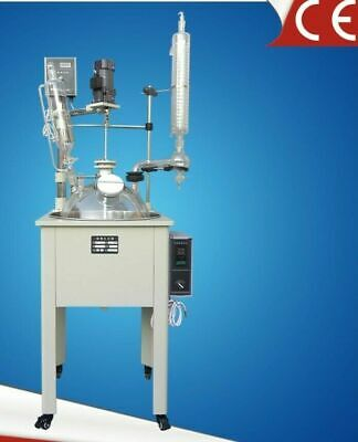 50l Single Lined Jacketed Glass Reactor Condenser Dropping Flask Sus304 Bath