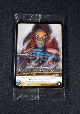 (8) World of Warcraft WoW TCG Runesong Dagger Legion Promo Extended Art Uncommon
