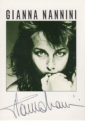Gianna Nannini Autogramm signed 10x15 cm Postkarte
