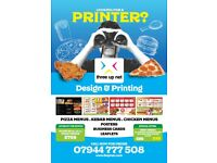Menu Printing for Pizza Shops