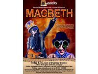 Oddsocks madness and mayhen Macbeth Friday 8th July 7pm Anglican cathedral