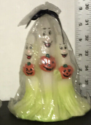 Vntg Halloween Candle Spooky Ghost