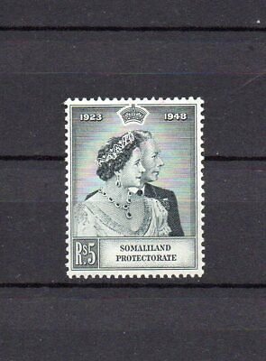 SOMALILAND PROTECTORATE  KGVI  1948SILVER WEDDING 5 Rupees MINT HINGED STAMP