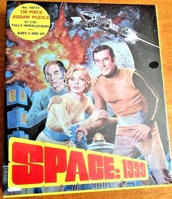 """SPACE 1999 150 PCS JIGSAW PUZZLE 497-01 14""""X10"""" HG TOYS INC NY NOS SEALED UNUSED"""