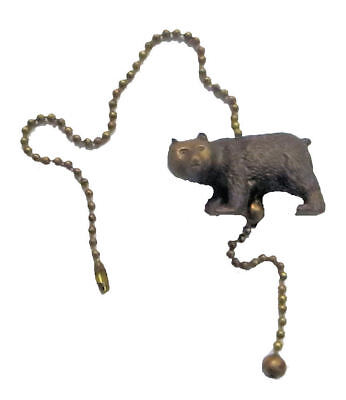 LOT OF 6 CLOSE-OUT BEAR ANTIQUE BRASS W/ COPPER BLACK WASH FAN PULL CHAIN