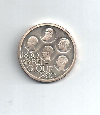 Belgie-Belgique Munt 500FR 1980 Frans (5 koningen) Zilver in blister 802(lot B)