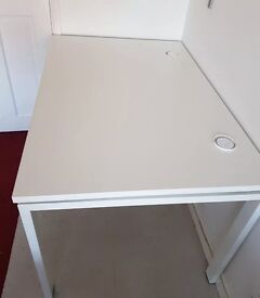 WHITE BENCH DESKS X2. FREE FAST DELIVERY