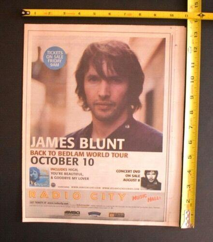 James Blunt 2006 Color Concert Ad Radio City Music Hall NYC