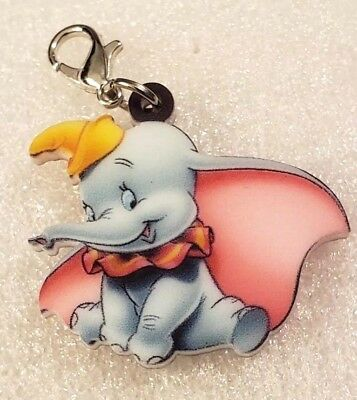 Dumbo Elephant Double-Sided Acrylic Purse Charm Zipper Pull Jewelry